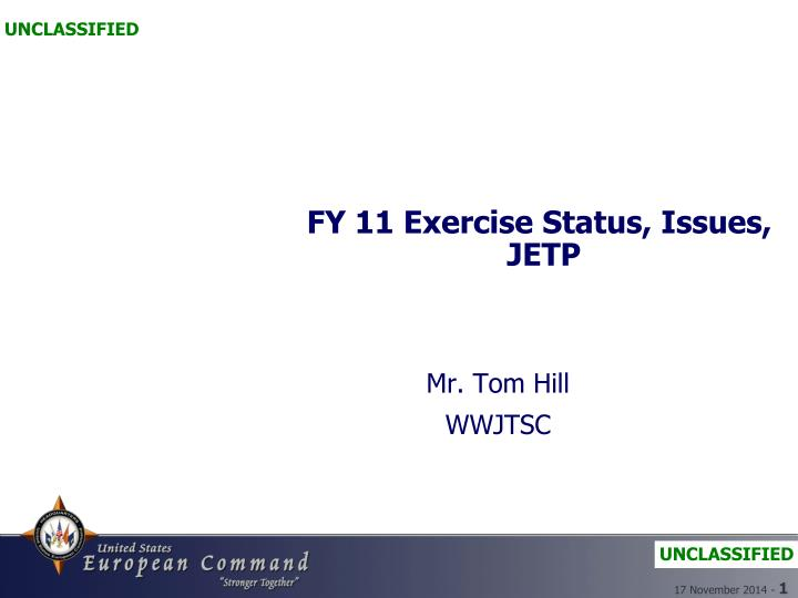 fy 11 exercise status issues jetp n.