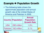 example population growth
