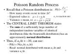 poisson random process