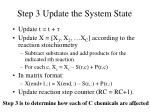 step 3 update the system state