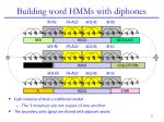building word hmms with diphones3