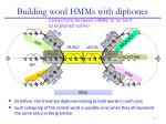 building word hmms with diphones6