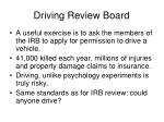 driving review board