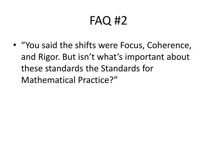 FAQ #2