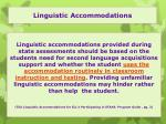 linguistic accommodations