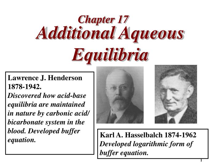additional aqueous equilibria n.