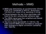 methods mmg