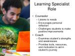 learning specialist role