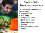 student self awareness inventory1