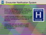 encounter notification system