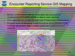 encounter reporting service gis mapping