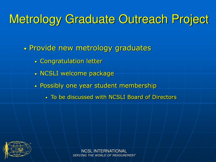 Metrology Graduate Outreach Project