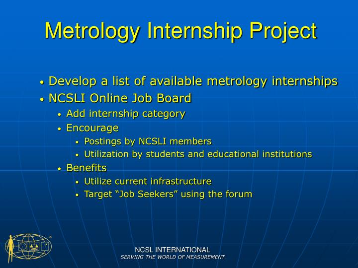 Metrology Internship Project