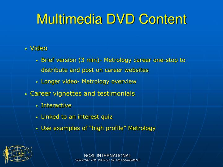 Multimedia DVD Content