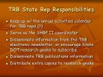 trb state rep responsibilities