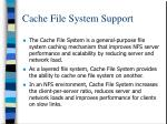 cache file system support