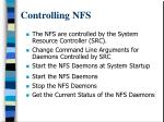 controlling nfs