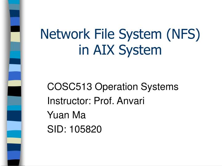 network file system nfs in aix system n.