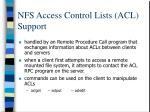 nfs access control lists acl support