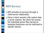 nfs services