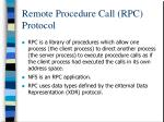 remote procedure call rpc protocol