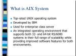 what is aix system