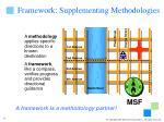 framework supplementing methodologies