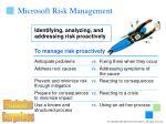 microsoft risk management