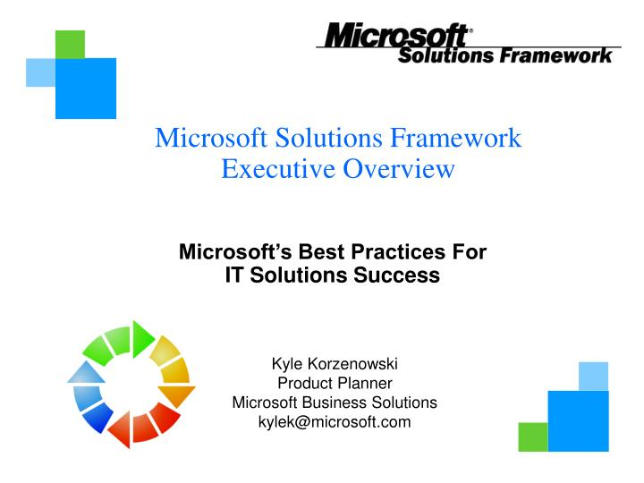 microsoft s best practices for it solutions success n.