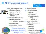 msf services support