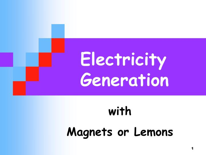 electricity generation n.