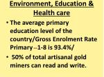 environment education health care1