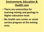 environment education health care2