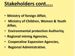 stakeholders cont