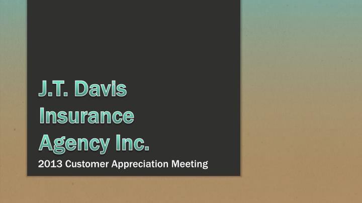 2013 customer appreciation meeting n.