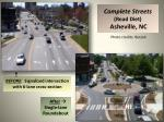 complete streets road diet asheville nc