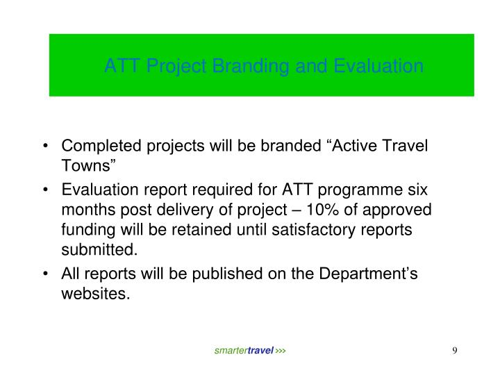 ATT Project Branding and Evaluation