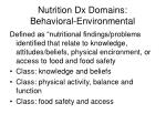 nutrition dx domains behavioral environmental