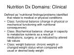 nutrition dx domains clinical