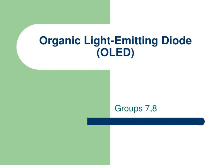 organic light emitting diode oled n.