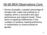 05 06 mea observations cont