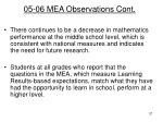 05 06 mea observations cont1