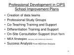 professional development in cips school improvement plans