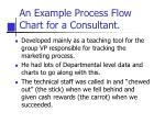 an example process flow chart for a consultant