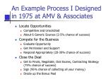 an example process i designed in 1975 at amv associates