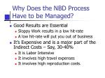 why does the nbd process have to be managed