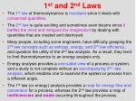 1 st and 2 nd laws