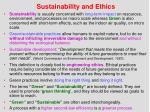 sustainability and ethics