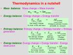 thermodynamics in a nutshell