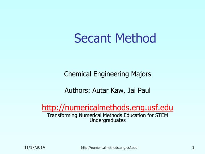 secant method n.